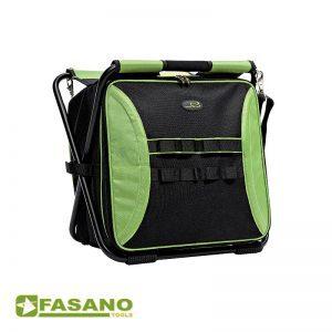 Βαλίτσα εργαλείων με θέση εργασίας μαύρη-πράσινη