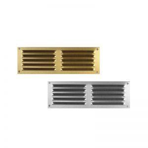 Εξαεριστήρες αλουμινίου πατωμάτων διπλή περσίδα 5x15 cm