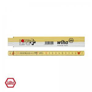 Μέτρο πτυσσόμενο άσπρο/κίτρινο LongLife 2m WIHA