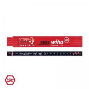 Μέτρο πτυσσόμενο κόκκινο/μαύρο LongLife 2m WIHA