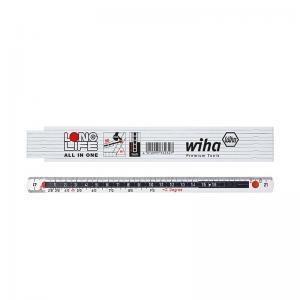 Μέτρο πτυσσόμενο άσπρο/μαύρο LongLife 2m WIHA