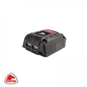 Φορτιστής μπαταριών 18V με USB STAYER Professional