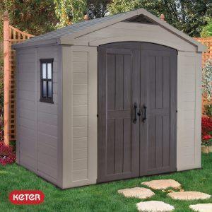 Αποθήκη κήπου με δίφυλλη πόρτα 6x6 FACTOR KETER