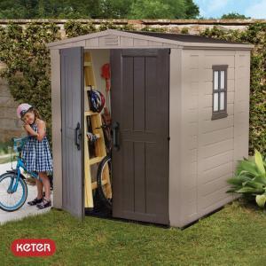 Αποθήκη κήπου με δίφυλλη πόρτα 8x6 FACTOR KETER