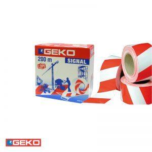 Ταινία σήμανσης λευκό/κόκκινο 200m GEKO