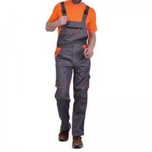 Φόρμα με τιράντα και κουμπιά γκρι/πορτοκαλί ERGOLINE