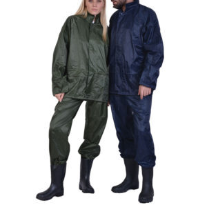Σετ σακάκι/παντελόνι αδιάβροχο με κουκούλα