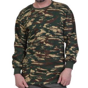 Φούτερ ελληνικής παραλλαγής βαμβακερό Military