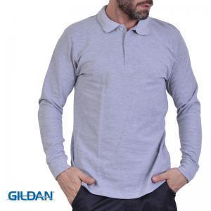 Μπλουζάκι βαμβακερό μακρύ μανίκι τύπου POLO