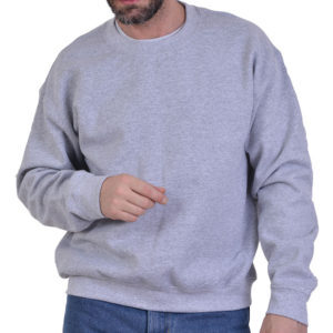 Φούτερ μπλούζα μακρυμάνικη βαμβακερή με λάστιχο
