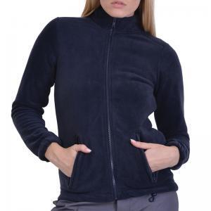 Ζακέτα fleece με τσέπες και φερμουάρ μπλε