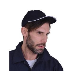 Καπέλο βαμβακερό εξάφυλλο με Velcro JOCKEY