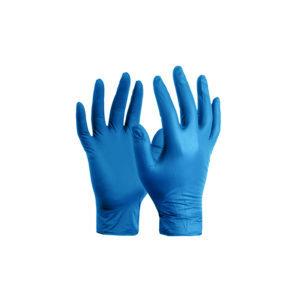 Γάντια μιας χρήσης νιτριλίου αμφιδέξια χωρίς πούδρα μπλέ