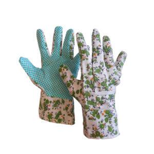 Γάντια κήπου βαμβακερά με κόκκους pvc σε παλάμη