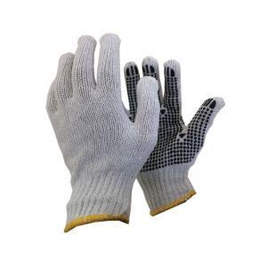 Γάντια πλεκτά με κόκκους PVC στην παλάμη