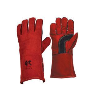 Γάντια δερμάτινα ηλεκτροσυγκόλλησης κόκκινα KEVLAR