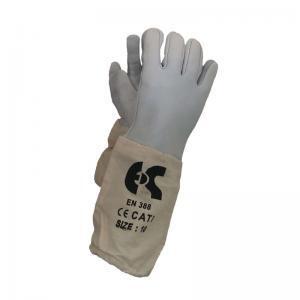 Γάντια δερμάτινα μελισσοκομικά μανσέτα βαμβακερή
