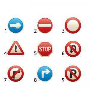 Πινακίδες σήμανσης οδοποιίας διάφορες