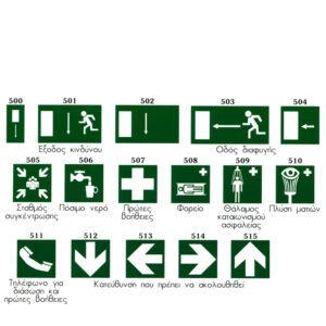 Σήματα ασφαλείας αλουμινίου 20x20 cm σειρά 5